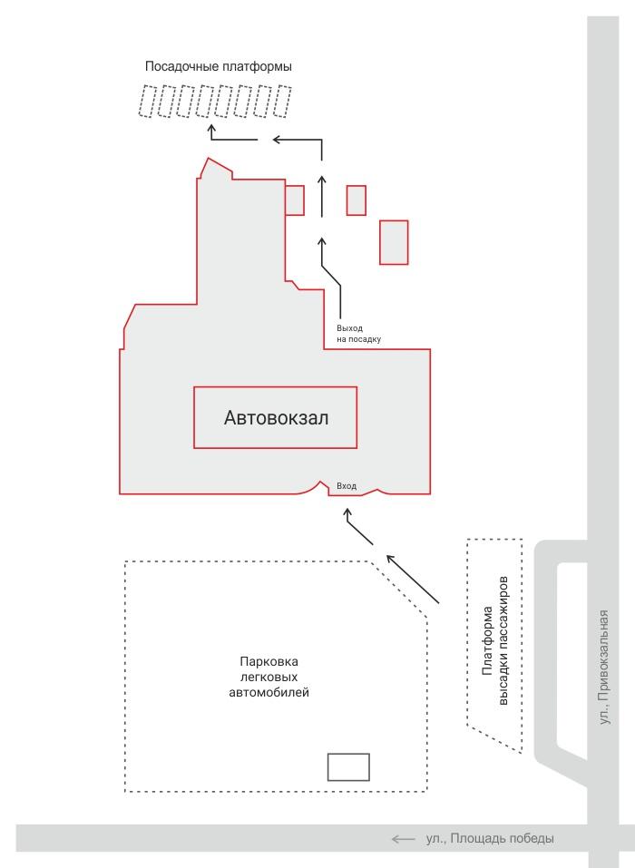 Общий план автовокзала