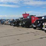ретро-Автомобили-на-выставке